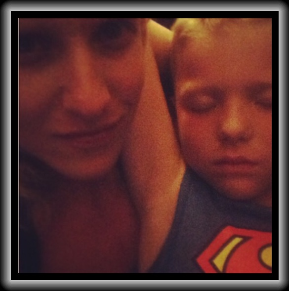 My beautiful best friend and her little Superman